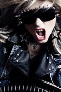 rock chick in leather